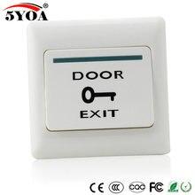 Interruptor push de liberação do botão da porta, interruptor eletrônico do sistema de controle de acesso