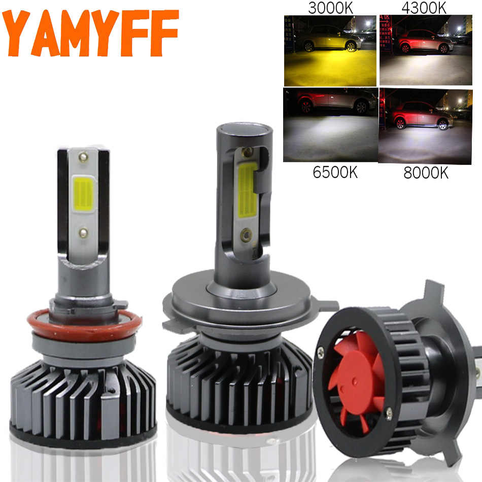 YAMYFF H4 LED H7 LED H11 Canbus Headlight Bulbs Car Lights 4300K 8000K 6500K 3000K H3 H1 HB3 9005 9006 880 H27 12V Auto Fog Lamp