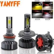 YAMYFF H4 светодиодный H7 светодиодный H11 Canbus лампы фары автомобиля 4300 K 8000 K 6500 K 3000 K H3 H1 HB3 9005 9006 880 H27 12 V Авто Туман лампа
