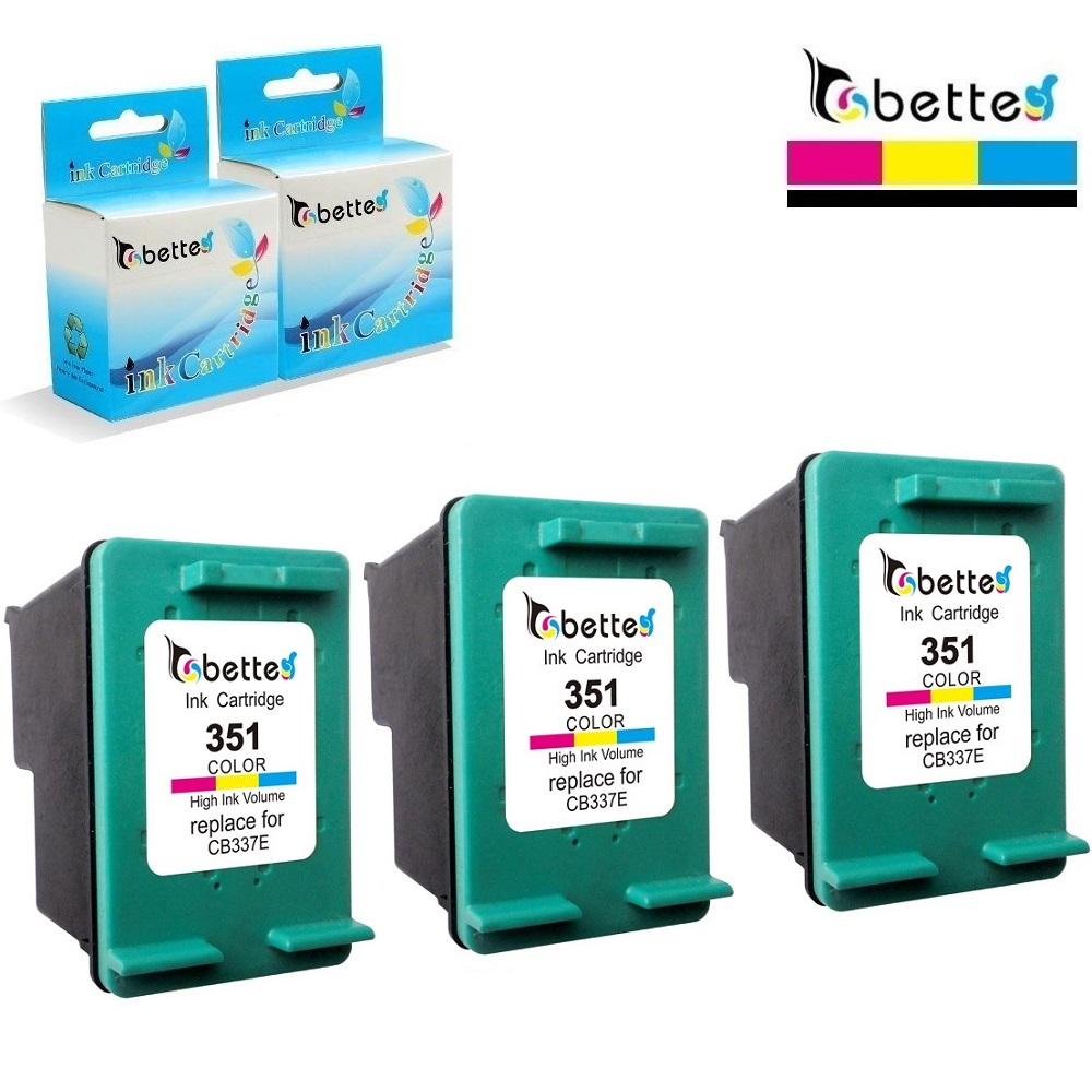 3PK,Ink Cartridge Replacement for <font><b>HP</b></font> <font><b>351</b></font> Officejet J6450 J6480 J6488 C4588 C4593 C4599 C5288 C5290 C5293 D5300 D5345 D5360 D5363 image