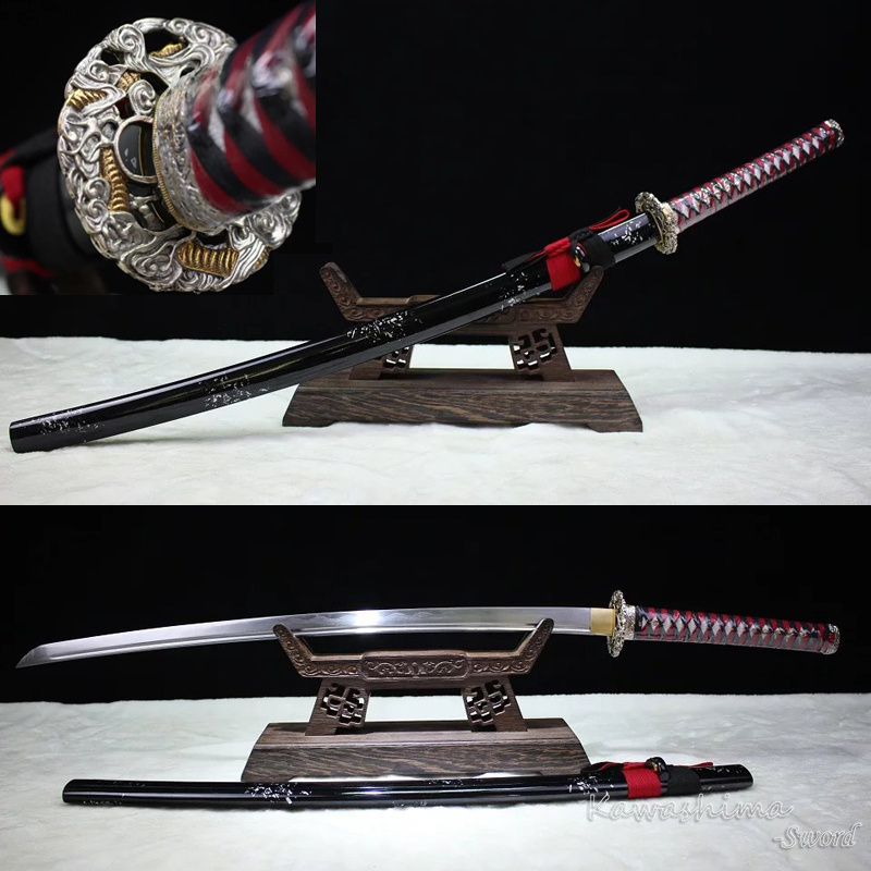 Grade-A Handmade Samurai Sword Damascus Steel Forged With Clay-Tempered Real Hamon  Ready For Battle Brass Grade-A Handmade Samurai Sword Damascus Steel Forged With Clay-Tempered Real Hamon  Ready For Battle Brass