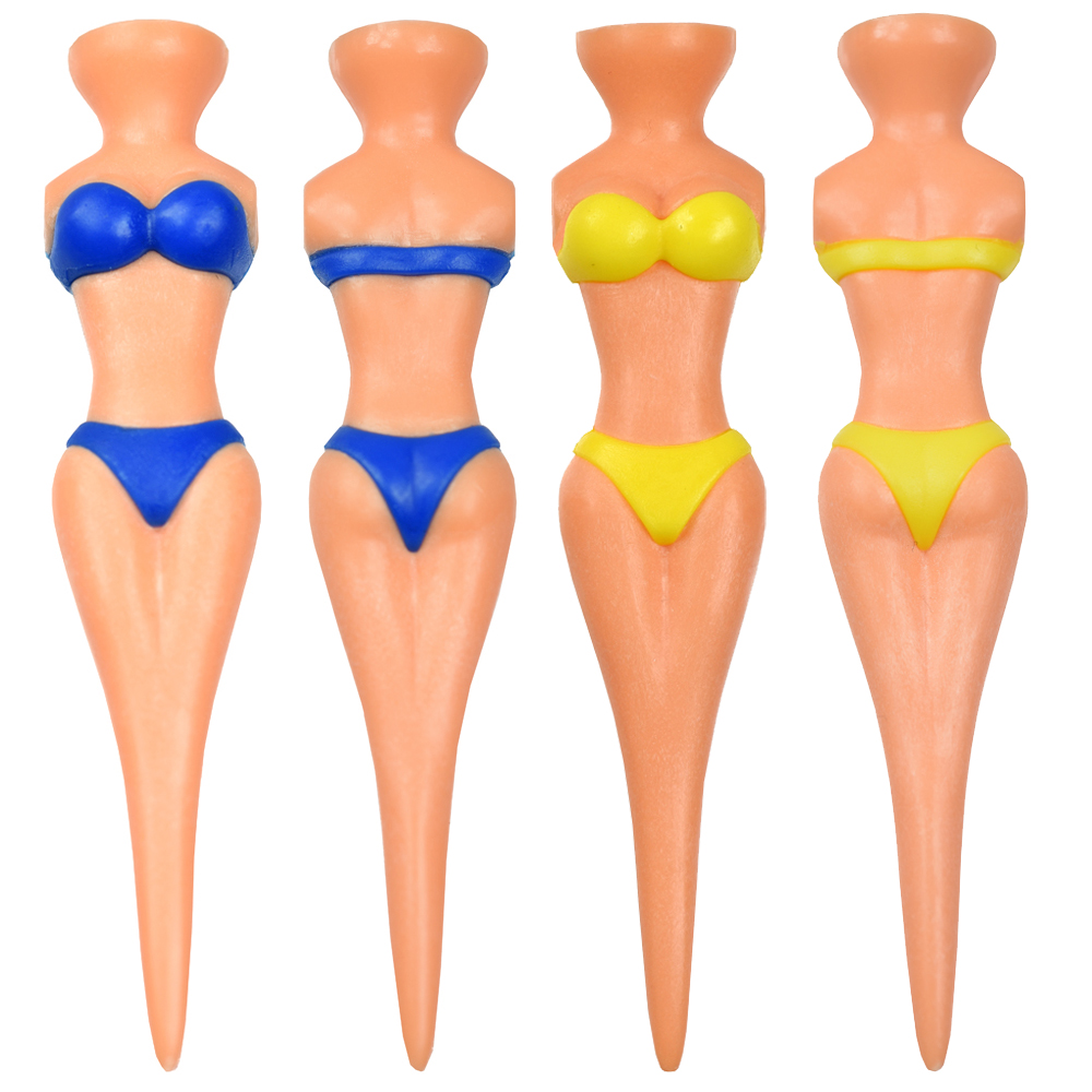 5 Pcs/Lot Plastic Golf Tees Clubs Tee Sexy Attractive Bikini Lady Model Women Divot Accessories Tools Gift 78x11cm