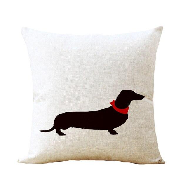 Tienda Online A + CALIDAD perro impreso cojín perro salchicha ...