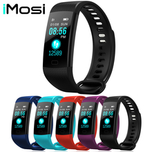 Y5 Smart Band font b Watch b font Color Screen Wristband Heart Rate Activity Fitness tracker