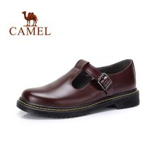 CAMEL Women's Shoes New Women Pump Retro England Hollow Buckle Low Heel Comfortable Women Spring Woman Sandals