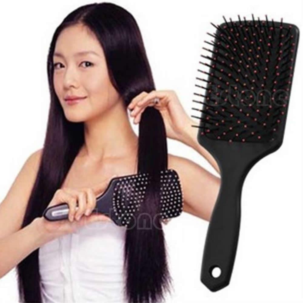 Professional Healthy Paddle Cushion Hair Loss Massage Brush Hairbrush Comb Scalp Hair Care