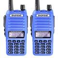 2 UNIDS BaoFeng UV82 Transceptor de Doble Banda VHF UHF de 2 Vías de Radio de Mano Walkie Talkie