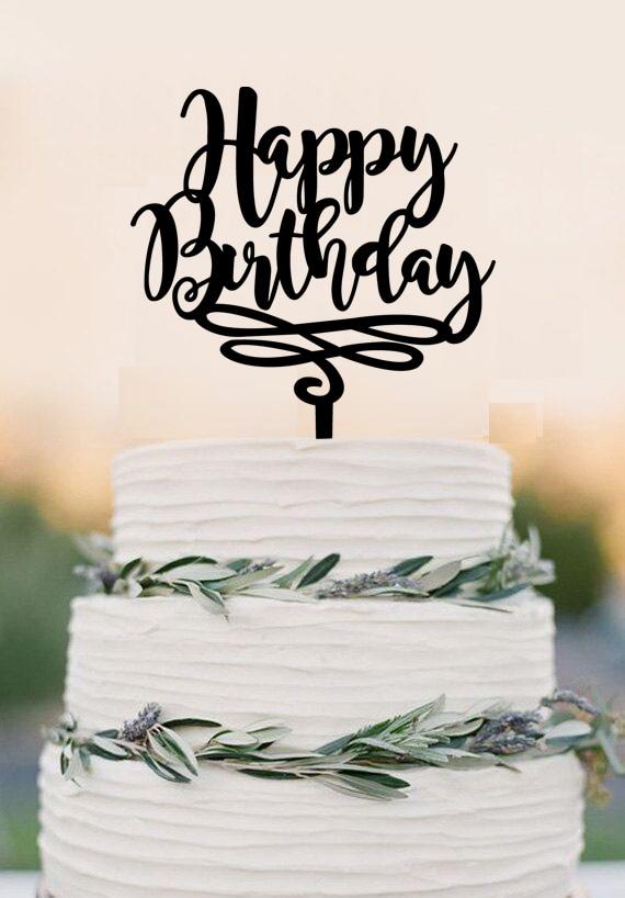 Aliexpress Buy Happy Birthday Cake Topper Birthday Cake