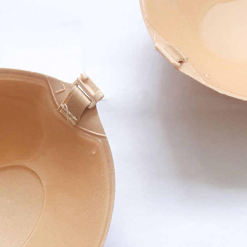 Pegatinas de cinta de estiramiento de pecho de silicona reutilizables para mujer almohadilla de empuje hacia arriba cubierta de pezón adhesivo sin tirantes palo en sujetador