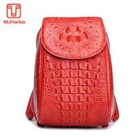 McParko женский рюкзак женский Противоугонный рюкзак из натуральной крокодиловой кожи Роскошные сумки с дизайном под крокодиловую кожу женск
