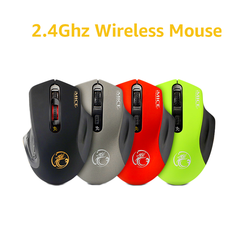 iMice USB Wireless Gamer Mouse 2000DPI Optical Mouse 4 Botones 2.4G - Periféricos de la computadora - foto 2