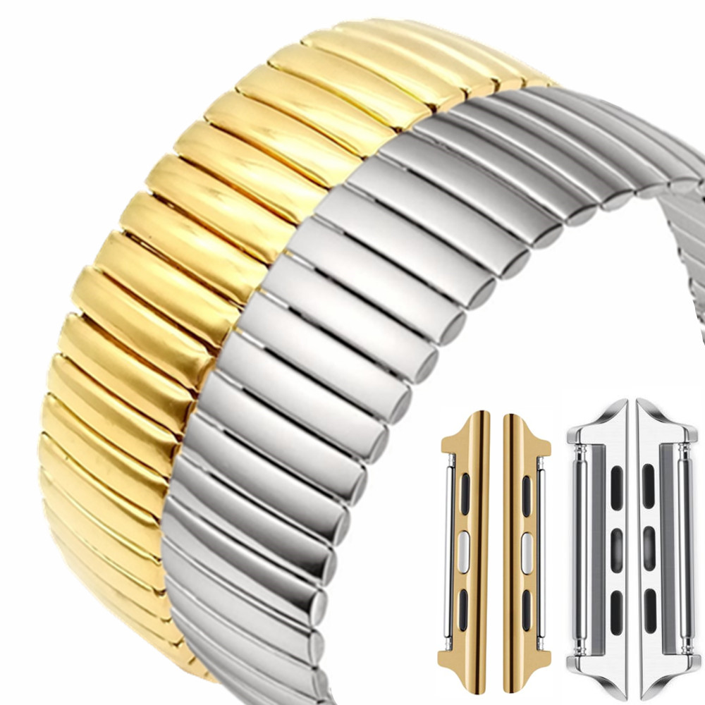 Stretch Expansion Stainless Steel Parts Watch Band Strap Metal Watch Bracelets For Apple iwatch 1&2&3&4 38/42 40/44mm