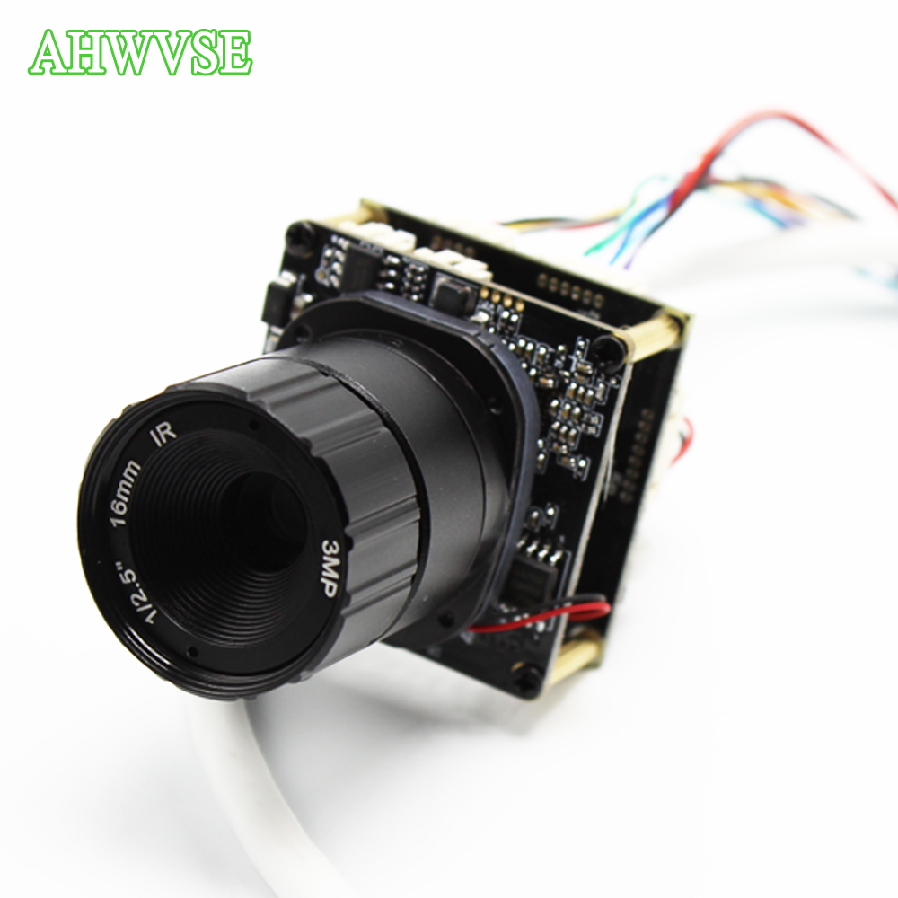 AHWVSE 48V POE Camera IP 2MP with RJ45 Port and 3MP Lens 16mm 12mm 8mm 6mm 4mm