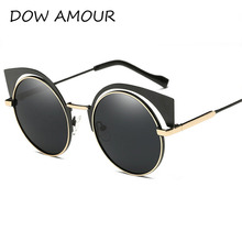 Aluminum Polarized Sun Glass Women Cat Eye Sunglasses Brand Designer Sunglasses Classic Shades Round Frame Higa Quality