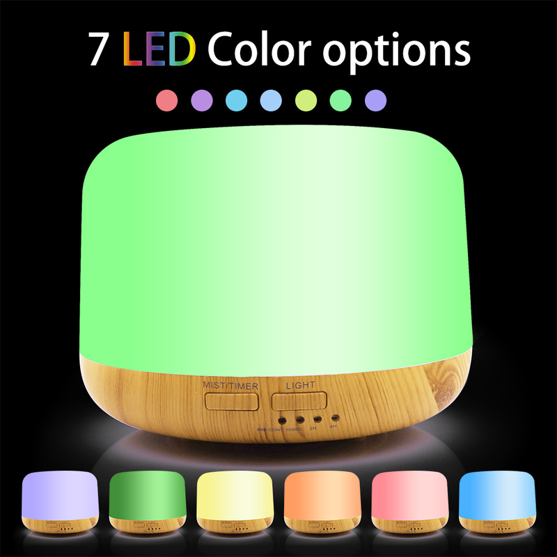 300ml Ultrasonic Colorful Aromatherapy Machine LED Light Bread Humidifier Home Office Beauty in Humidifiers from Home Appliances