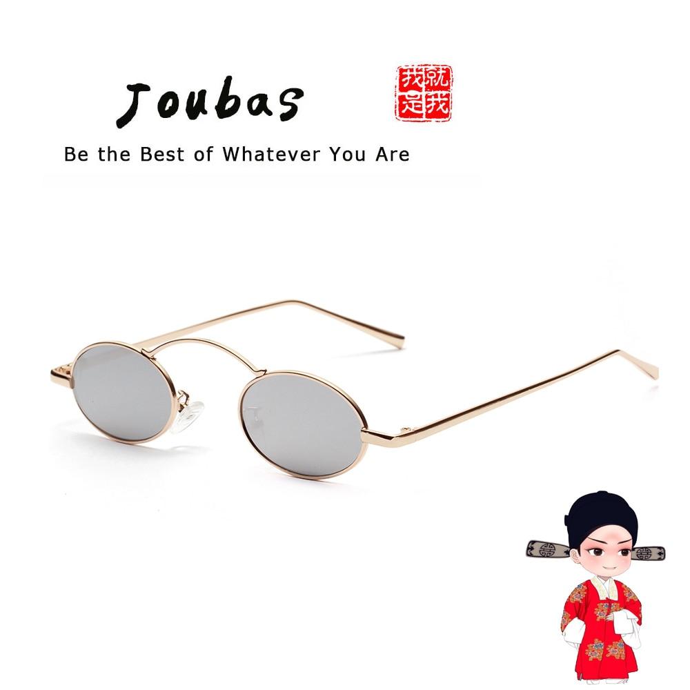 Joubas Frame Sunglasses Steampunk Metal Retro Trendy Women/men Brand Designer Small Oval