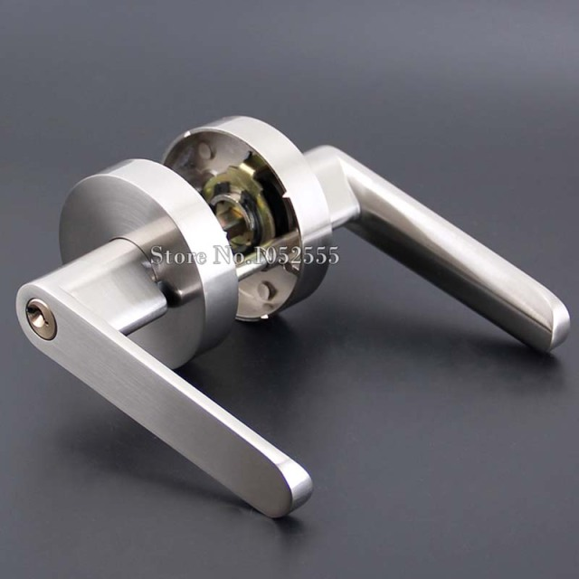 NEW Zinc Alloy Handle Door Lock Entry Entrance Passage Door Lever Knobs  Lock Set Furniture Hardware