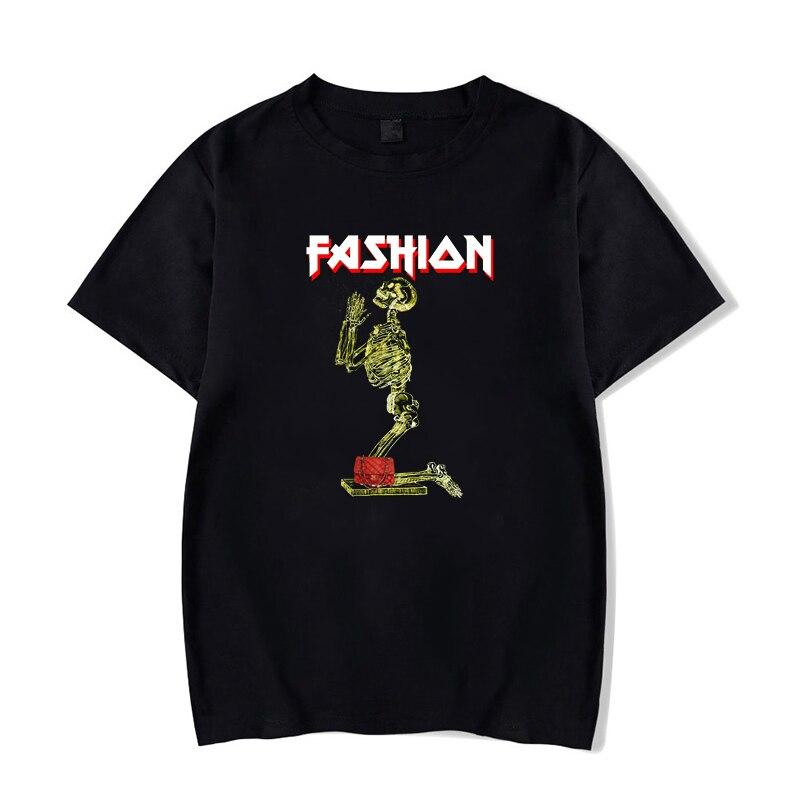 Funny T Shirt Men Fashion Skelet Vogue Classic T-shirt Women Summer Cotton O-Neck Black Casual Tops Harajuku Clothing