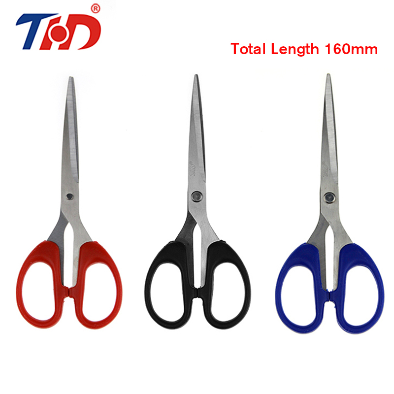 THD 160 Mm/6.3 Inch Stainless Steel Office Cutting Scissors Diy Crafts Office Tailor Needlework Scissors For Home Workshop