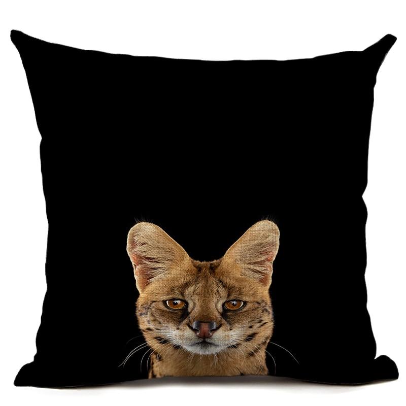 Orginal Tiger Heyvanı Çap olunmuş Kətan Yastığı Avtomobil - Ev tekstil - Fotoqrafiya 2