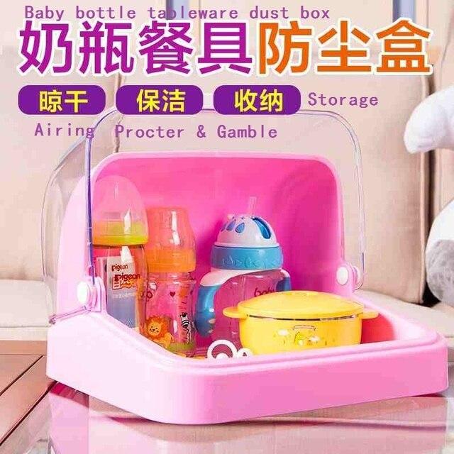 2016 новый бутылочки для хранения утечка и посуда шкафы раскладушка пыли сушилка хранения
