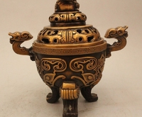 """8 """"ملحوظ اسرة قصر البرونز التنين الصيني العلجوم incenser مبخرة-في تماثيل ومنحوتات من المنزل والحديقة على"""
