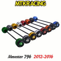 MTKRACING For Ducati Mmoster 796 2012 2016 monster CNC Motorcycle Front rear wheel Axle Slider shock absorber Falling Protection