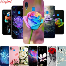 For Samsung Galaxy A20 Case A 20 6.4 inch Cover Silicone Soft TPU Phone 2019 Floral Rose Coque Funda