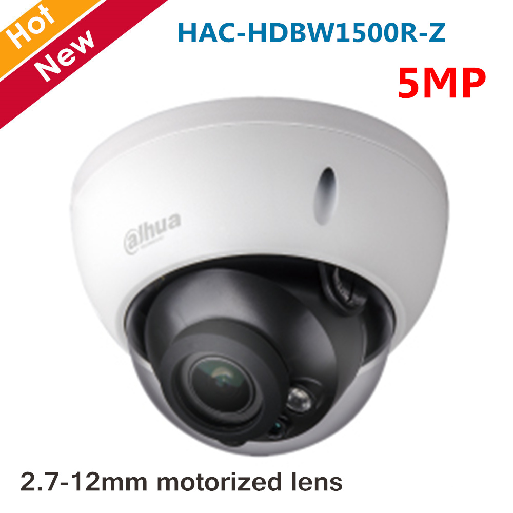 Original Dahua 5MP HDCVI Camera IR Dome Camera HAC-HDBW1500R-Z 2.7-12mm Motorized Lens Smart IR 30 Meters Coaxial Camera