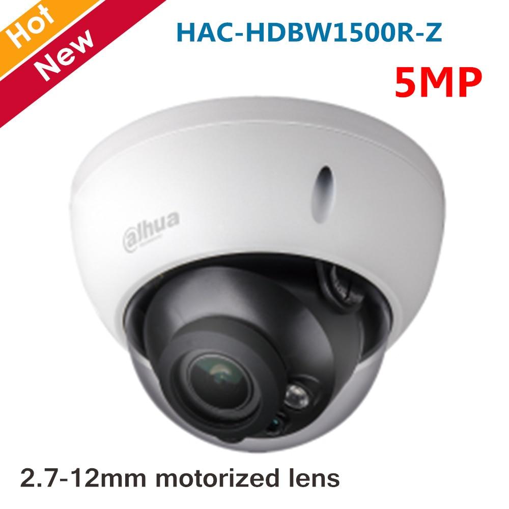 Original Dahua 5MP HDCVI Camera IR Dome Camera HAC-HDBW1500R-Z 2.7-12mm Motorized lens Smart IR 30 meters Coaxial Camera
