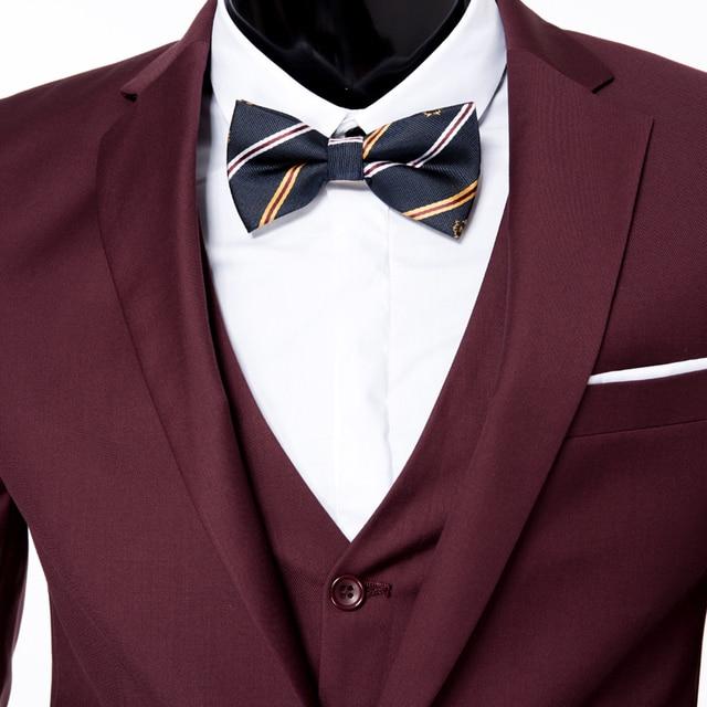(jackets+vest+pants) 2018 fashion male quality slim high-grade cotton business BLAZER/Men groom dress suit three-piece/jackets 4