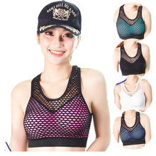 MAOMEREJ New Sports Bra Nylon Quick Dry Breathable Grid Fitness Short Tops Wrapped Chest Girls Running Underwear