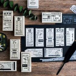 Label Aufnahme Holz DIY Stempel-set Studentenpreis Werbe Geschenk Schreibwaren