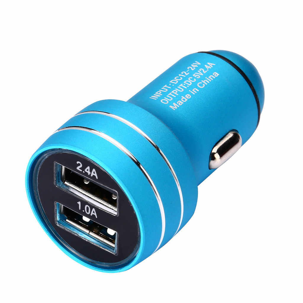 5 V/Xiaomi a/1A 1 Adaptador de cargador de coche doble puerto USB compatibilidad amplia para iPhone para Huawei QC3.0 cargador # YL1