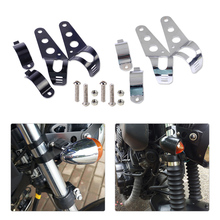 New Universal 33-45mm fork Tubes Motorcycles Headlight Mounting Holder Brackets Set for Harley Davidson Kawasaki Yamaha Suzuki