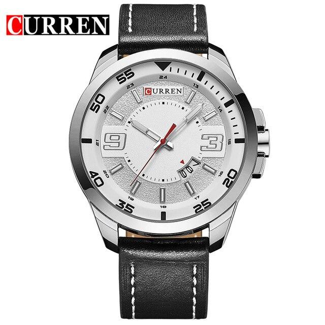 2016 new fashion Curren brand design business army men male clock casual military luxury wrist quartz sport gift watch 8213