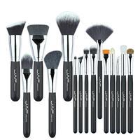 JAF 15 Pcs Makeup Brushes Set Powder Blush Foundation Eyeshadow Eyeliner Lip Cosmetic Beauty Pro Make