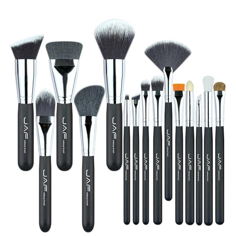 JAF 15 Pcs Makeup Brushes Set Powder Blush Foundation Eyeshadow Eyeliner Lip Cosmetic Beauty Pro Make up Brush Tool YE2 12 pieces set beauty makeup brushes set foundation powder eyeshadow eyeliner lip blush make up tools pinceis de maquiagem kit