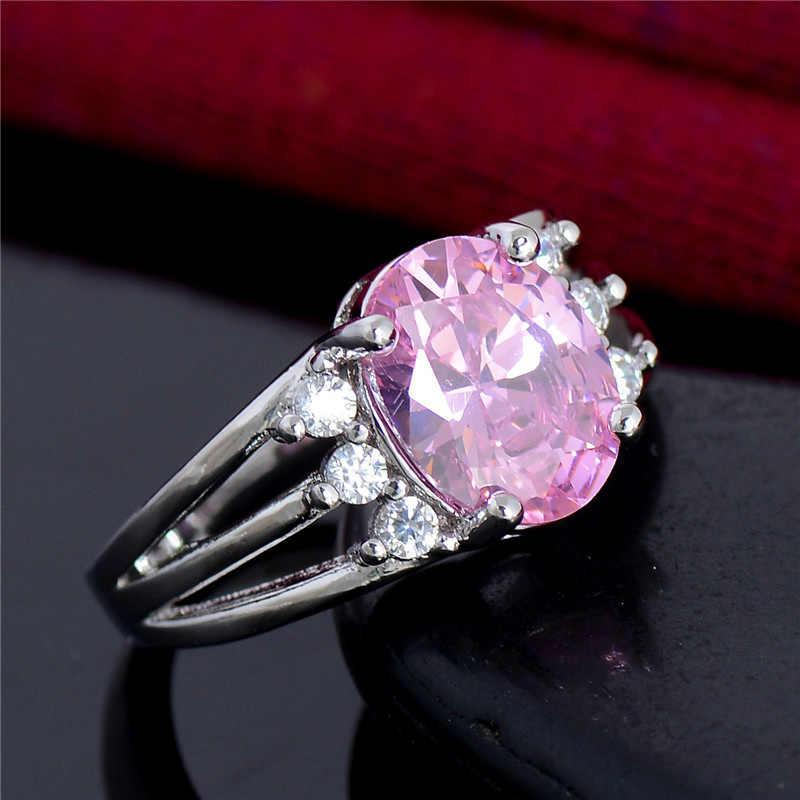 SHUANGR ใหม่ขายร้อนแหวนเงินน่ารักแฟชั่นเครื่องประดับ Charm ผู้หญิงแต่งงาน Lady Cubic Zirconia แหวนเครื่องประดับ