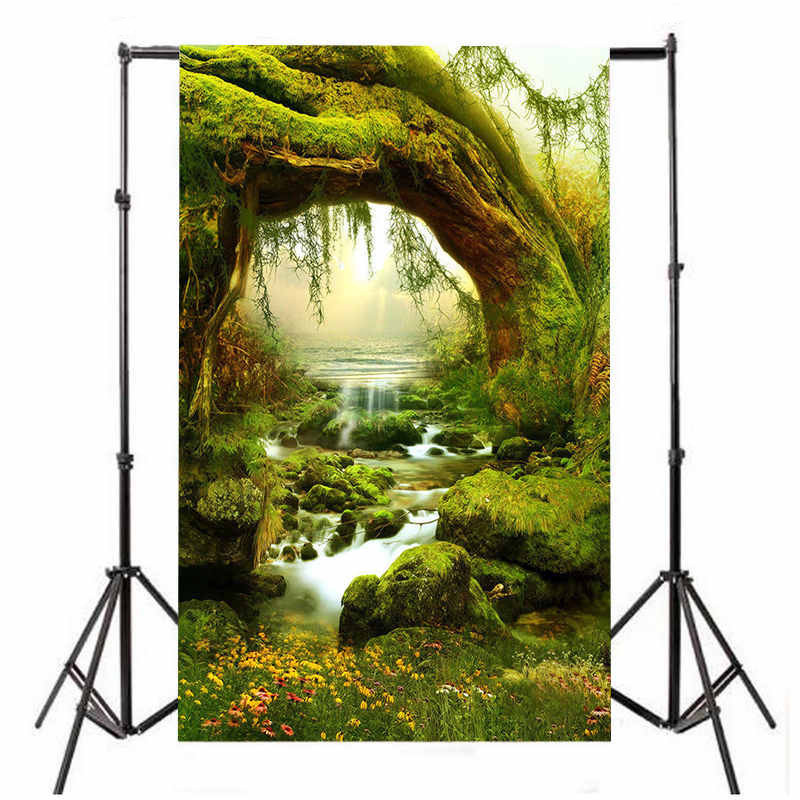 Maytir 150X210cm Forest Backdrop Children Spring Fairy Tale Scenic Photography Background For Studio Photo Props send rolled enchanted forest backdrop secret garden lantern fairy tale printed fabric photography background s0038