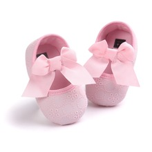 0~18month Pink Pretty  butterfly knot cotton fabric princess Boys Girls Shoes Soft Bottom Shoes Toddler Shoes Baby Shoes bx292