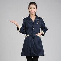 New Arrival Medical Coat Doctors Uniform Fashion Nurse Dress Pharmacies Uniforms Beauty Salon Workwear Clothes Slim Fit