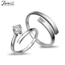 379432d63612 ZUUZ dedo hombres hombre mujer compromiso amor plata ajustable anillo  anillos de boda para las mujeres kpop joyería accesorios a.