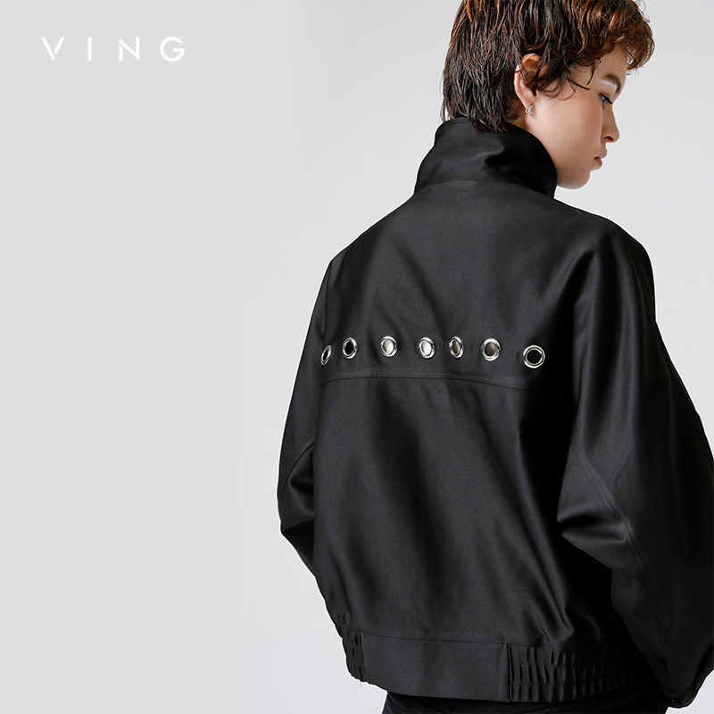 VING 2017 Autumn New Arrival Women Jackets Full Sleeve Embroidery Concise Mlb Zipper Casual Coat
