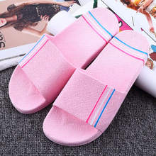 Summer new bathroom sandals and slippers women's non-slip soft bottom home slippers couple wear solid color