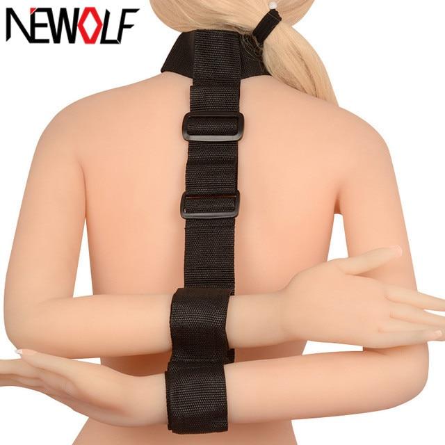 Buy New Sex Products Neck collar Hand Restraint Fetish bdsm Bondage Restraints Hand Cuffs Adult Games Sex Toys Couples PY319