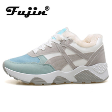 Fujin Summer Breathable Mesh Thick-soled Korean Leisure Shoes Dropshipping Women Heightening with Single