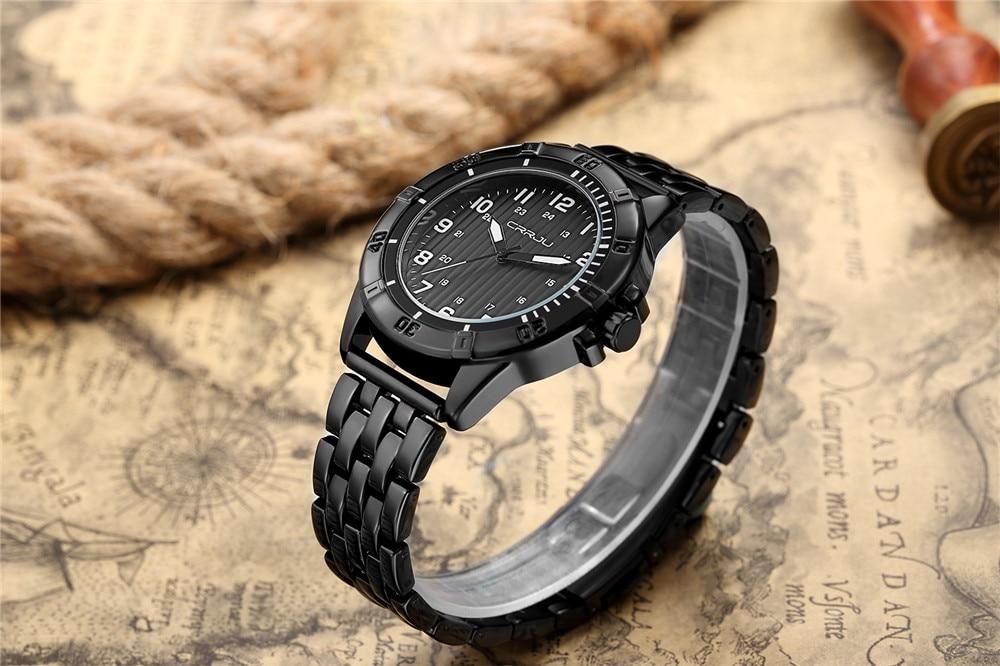 Hoogwaardige heren quartz-horloge luxe merk herenhorloge waterdichte - Herenhorloges - Foto 6