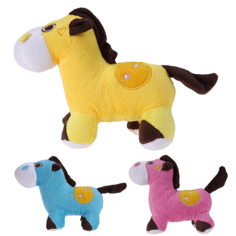 Baby Plush Toys Pet Dog Toys Cute Donkey Shape Plush Sounding Dog Squeaky Chew Toys for Children Animals Stuffed Doll Gift