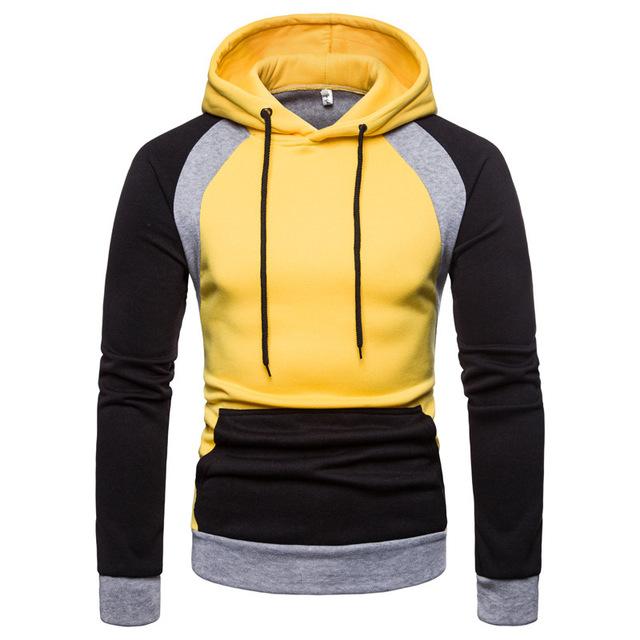 Hip Hop Patchwork Hoodies Men 2019 Fashion Autumn Winter Warm Fleece Sweatshirt Mens Streetwear One Pieces Hoodies Outwear 3XL